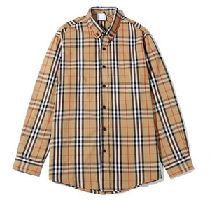 2020 nueva marca de fábrica del diseñador de moda clásico de la solapa ocasional de la camisa de manga larga camisa para hombre de las mujeres de negocios blusa