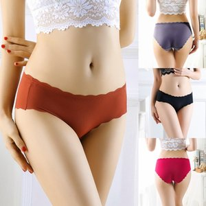 1Pc Sexy Transparent Lace-Trimmed Thread Swimming Cloth Comfortable No Trace Solid Color Sexy Briefs Underpants 2