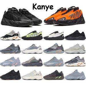 Kanye 700 Mens Running Shoes Laranja Phosphor Tie-dye carbono Teal Azul Sal Analog estática malva contínuos cinzentos reflexivos Formadores Sneakers
