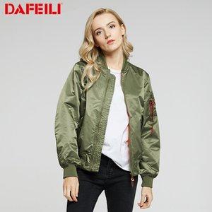 chaqueta corta chaqueta suelta bfwind pelota de béisbol de DAFEILI MA-1 otoño traje de fina base piloto de la fuerza aérea de las mujeres