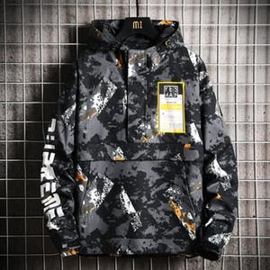Açık Motosiklet Ceket Erkekler Kış Softshell Hip Hop Kamuflaj Ceket Erkekler Streetwear Su geçirmez Jaqueta Masculina Palto JJ60JK