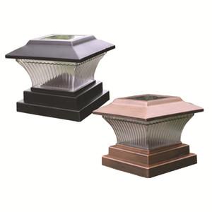 5x5 6x6 Solar-Pfosten-Licht für Holzzaun Holzterrasse im Freien Solar Powered Säule culumn Caps warme weiße Lampe Fit 5x5 oder 6x6 Beiträge