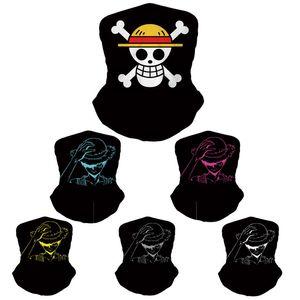 20pcs concepteur masques de luxe adulte masque facial hommes femmes masque d'équitation One Piece jeu anime protection masque à poussière
