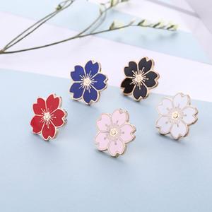 2019 Tatlı Kiraz Çiçeği Broş Damla Çiçek Yaka Pin Emaye Rozetleri Giyim Çanta Aksesuar Sevgiliye Noel Hediyesi