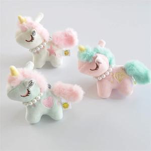 Schöne 8cm Einhorn Süßes Pferd Plüschtier-Schlüsselanhänger Weiche Tiere Puppe-Minipferdetasche Anhänger-Spielzeug für Kinder Mädchen Weihnachten Geburtstags-Geschenk