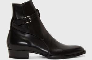 erkekler botları Toka kayış slp ayak bileği lüks süet çizme Wyatt Sıcak Satış-e