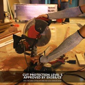 Nuovi guanti del braccio a prova di taglio 30 centimetri I 5 livelli di anti-taglio antitaglio guardia braccio HPPE 36CM manica autodifesa armatura HPPE Free shipping