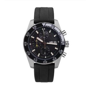 2020 Горячие мужские наручные часы роскошный каучуковый ремешок пилот спорт 007 часов черные циферблаты с DayDate хронограф мужские часы Navitimer