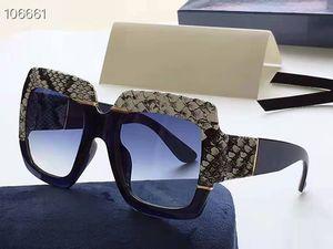 Змеиной шаблон большой площади Солнцезащитные очки Женщины Крупногабаритные 2019 Мода Оттенки UV400 Vintage очки óculos с оригинальной коробке 0484