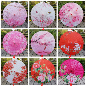 Multicolor Artisanat huile papier parapluie parapluies en tissu de soie Décoration Dance Umbrella Cos Umbrella Performance Prop style chinois BH2167 EJT
