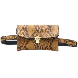 Waist Bag Female Belt New Fashion Serpentine Chest Handbag Unisex Fanny Pack Ladies Waist Belly Bags Purse Teenager #LR2