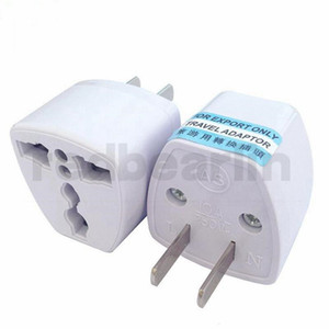 1000pcs New Universal UK UE AU CN para US Adapter EUA Carregador de viagem da UE Adaptador AC Plug Power Converter Free DHL