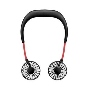 يد شريط حول ياقة الملابس مجانا الرياضة مروحة المحمولة USB قابلة للشحن البطارية الكهربائية كسلان المعلقة البسيطة فرقة الرقبة فان