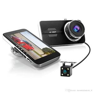 """Car Dash Cam 4 """"LCD FHD 1080p Enregistreur de caméra pour tableau de bord grand angle de 170 degrés avec deux caméras, Capteur G, WDR, Enregistrement de boucle DVR de voiture"""
