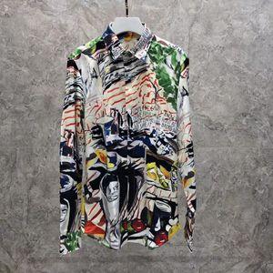 Primavera 2020 novos homens de moda de designer camisas de impressão digital ~ Tamanho chineses ~ botão mens designer de camisetas de manga comprida
