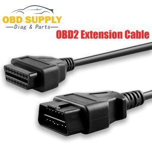 Toptan 5pcs OBD Teşhis 16pin OBDII Kablo Adaptörü Transferi Bağlayıcı OBD2 16pin Araba Teşhis Kablolar ve Konektörler