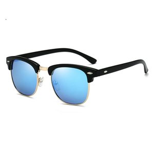 2019 óculos polarizados Homens Mulheres RB3016 Design A metade do quadro Sun Glasses Meio aro clássico homens Óculos de sol Óculos de Sol UV400