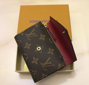 Дизайнер кожаный бумажник для держателя женщин женщины многоцветной Роскошный короткий кошелек Марка карты кошелек классический карман на молнии Victorine