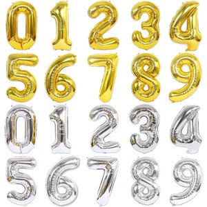 40 inch Big Foil Birthday Balloons Helium Number Balloons Happy Birthday Party Decorations Kids Toy Figures Wedding Air Globos 3pcs
