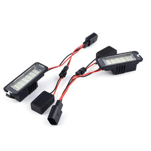 2Pcs 12V LED Number License Plate Light Lamps for VW GOLF 4 5 6 7 Polo 6R Car Exterior Accessories License Plate Lights