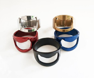 Multi-function Stainless Steel Colorful Ring-Shape Opener Beer Bottle Opener Diameter 22mm