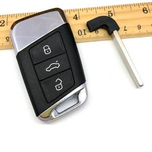 3 BTN Akıllı Araç Anahtar Shell Kılıf İçin Volkswagen VW Passat B8 Yeni Magotan B5 Skoda Superb A7 Varyant Golf + Insert Bıçak