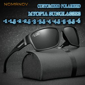 Custom Made Myopia Minus Prescription Polarized Lens Fashion Box Deportes Polarized Sunglasses Male Colorful Mirror -1 -1.5 To -6 Y19052004