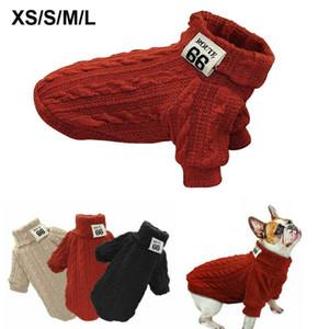 Pet Kedi Köpek Örme Tulum Sıcak Kış Triko Ceket Köpek Yelek Ceket Elbise