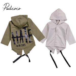 2020 chaqueta de la marca 0-24 M Moda bebé Abrigo de invierno Primavera carta de vuelta con capucha Abrigo recién nacidos los bebés niños rompevientos Outwear