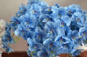 """Phalaenopsis Orchid Silk Flower Heads - 4.8"""" -Intelligenza teste di fiori LOT per Wedding make clip di capelli nuziale Fasce EEA482"""