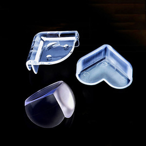 L Shape and Sphere Shape Kids Baby Table Corner Protectors Transparent Anti-Collision Angle Draw Cabinet Edge Guards Baby Safety Protection