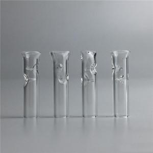 Безопасные толстые курительные трубки из Pyrex Glass Мини-наконечники с фильтром для сухого травяного табака СЫРЬЯ Роллинг-бумага с табачным держателем для сигарет DH0267