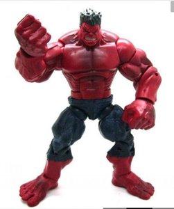 """LXH Red Hulk Action Figure The Avengers 10"""" 1p transporte PVC Forma Mãos Toy Amantes do filme Ajustado Coleção gratuito"""