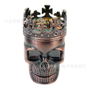 3-layer Zinc Alloy Grinder Metal Toothed Head Plastic Ghost Head Smoker Punk Accessories 7.5*4.7cm Top Quality Smoking Accessories