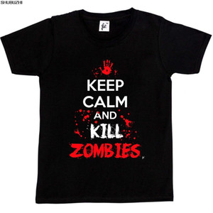 Keep Calm & Kill Zombies Blood Splatters Apocalypse Kids Boys   Girls T-Shirt