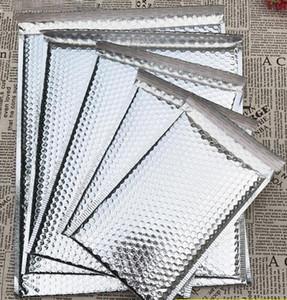 5 formati 40pcs Bolla d'argento imbottito Spedizione Busta metallizzata Mailer alluminio Gift Bag imballaggio Wrap