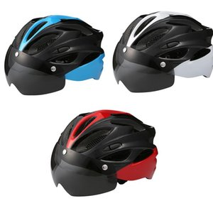 New Bicycle Helmet Windproof Lenses Integrally-Molded Helmet Breathable Cycling Sport CapProtective