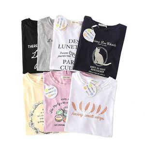 de cool designer japonais des femmes chemise culturelle 2019 d'été à manches courtes T-shirt crème solaire