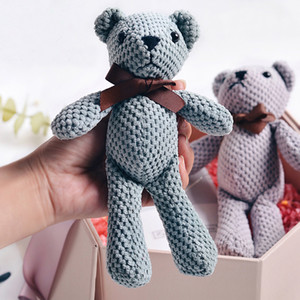 18-20 cm Teddy Bear Peluche Peluche Giocattoli carino Dress Pendente di coniglio Bambole Gifts Birthday Birthday Wedding Decor