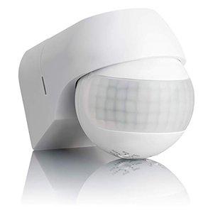 Sensor de movimiento ABEDOE 110v ~ 230v Interruptor Y200407 detector de movimiento automático del sensor de infrarrojos PIR 180 grados de rotación al aire libre reloj de luz
