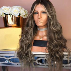 Destaque Glueless Full Lace perucas de cabelo humano com o bebê cabelo 180Density perucas completas do laço Pré arrancada Natural da linha fina por Mulheres