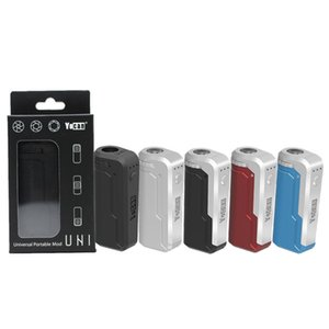 100% Authentic Yocan Uni Box Mod 650mah Preheat Battery Kit Suitable For all Size of Cartridge 510 Magnetic Ring Preheating Batteries