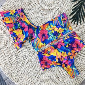 2020 Sexy Bikini Swimwear Women Swimsuit Push Up Biquini Brazilian Bikini Set Tie Up Summer Beach Wear Print Bathing Suit Female