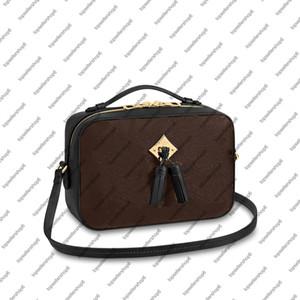 M44593 M43555 SAINTONGE MİNİ Püskül Debriyaj haberci kadınlar gerçek deri tasarımcısı kare paket çanta crossbody akşam omuz çantası çanta