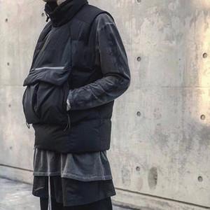 19FW الصلبة اللون أسفل سترة سترة المرأة شارع الرجال في فصل الشتاء في الهواء الطلق أكمام القطن الستر الأزياء الدافئة معطف أبلى M-2XL HFYMJK263