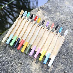 Doğal Bambu Diş Fırçası Ahşap Diş Fırçası Bambu Yumuşak kıllar Doğal Eko Bambu Fiber Ahşap Saplı Diş Fırçası İçin Çocuk RRA1626