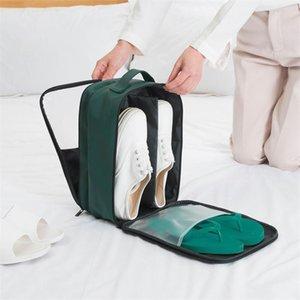 Sacs de chaussures de course 3 en 1 portables Sacs à chaussures imperméables Storage Storage Pochette Organisateur pour un voyage d'affaires / Home / Armoire Bdrkn