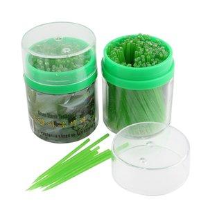 Crystal Corea beige / verde Almidón de maíz palillo de dientes mondadientes comestibles 200pcs respetuosos del medio ambiente en caja de plástico envío