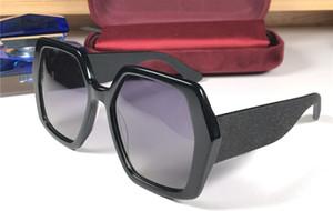 Новый модный дизайнер солнцезащитные очки 0118 квадратная рамка шить цвет очки простой и щедрый стиль высокое качество UV400 защиты очки