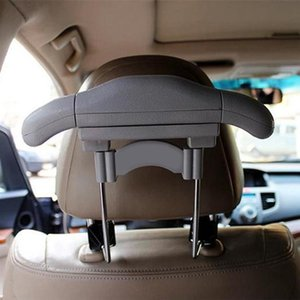 OUNONA Car Seat Clothes Drying Rack Mini Headrest Clothes Hanger for Coat Jacket Suits Shirts